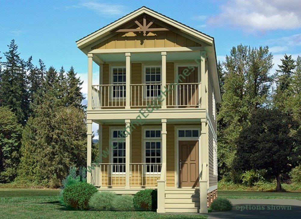 Modular homes glen cairn for Narrow lot modern modular homes