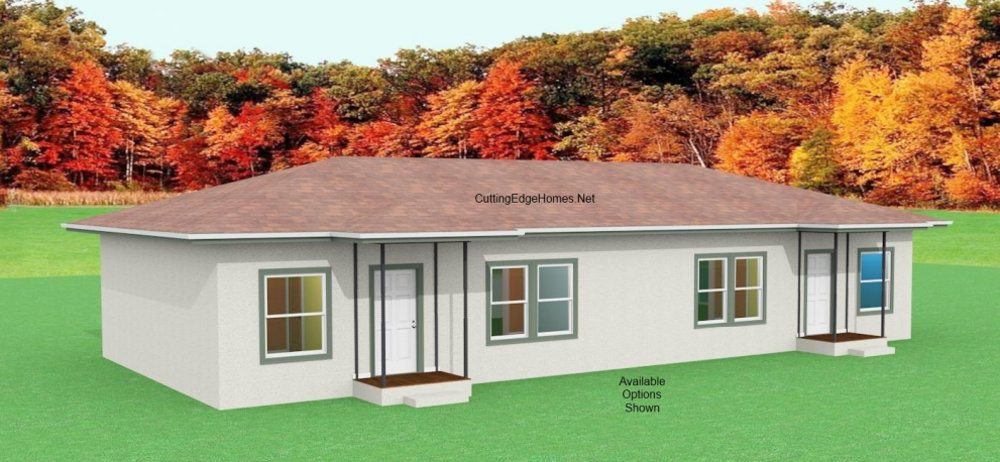 Modular homes multi family king duplex Modular duplex house plans