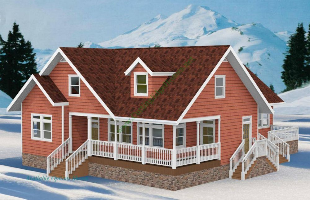 Modular homes rustic cabin cape home 1 for Rustic cape house plans