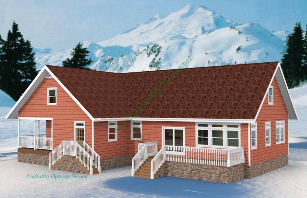 Modular homes rustic cabin cape for Rustic cape house plans