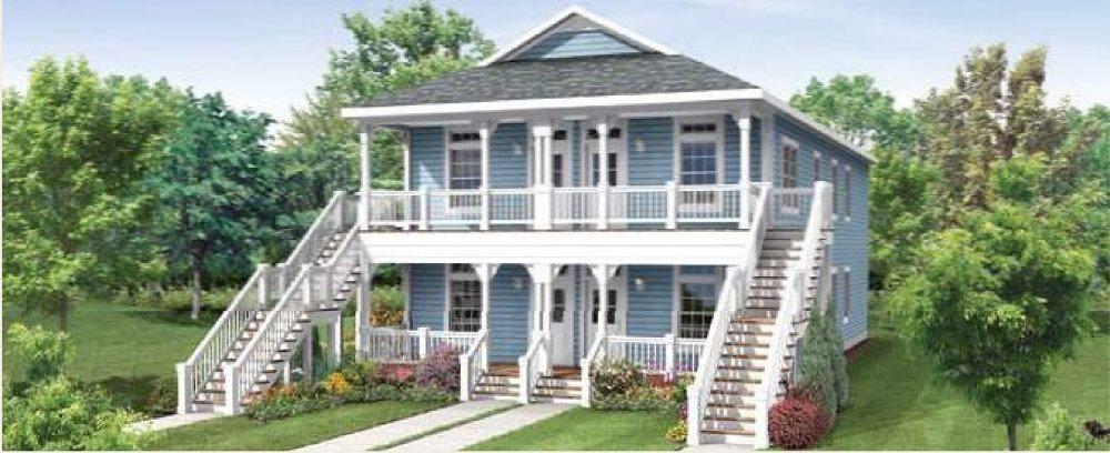 Modular homes multi family polk 4 plex for Two family modular homes