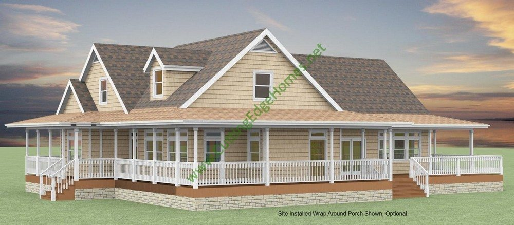 Modular homes custom birmingham cape cod for Modified cape cod house plans